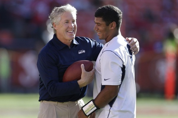 <h5><b><center>Pete Carroll and Russell Wilson</center></b></h5>